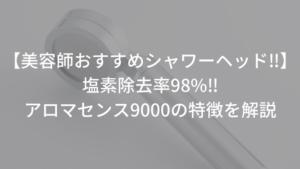 【美容師おすすめシャワーヘッド】アロマセンス9000の特徴を解説